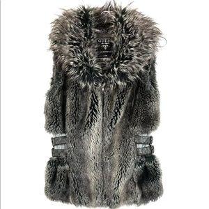 Guess faux fur vest faux leather
